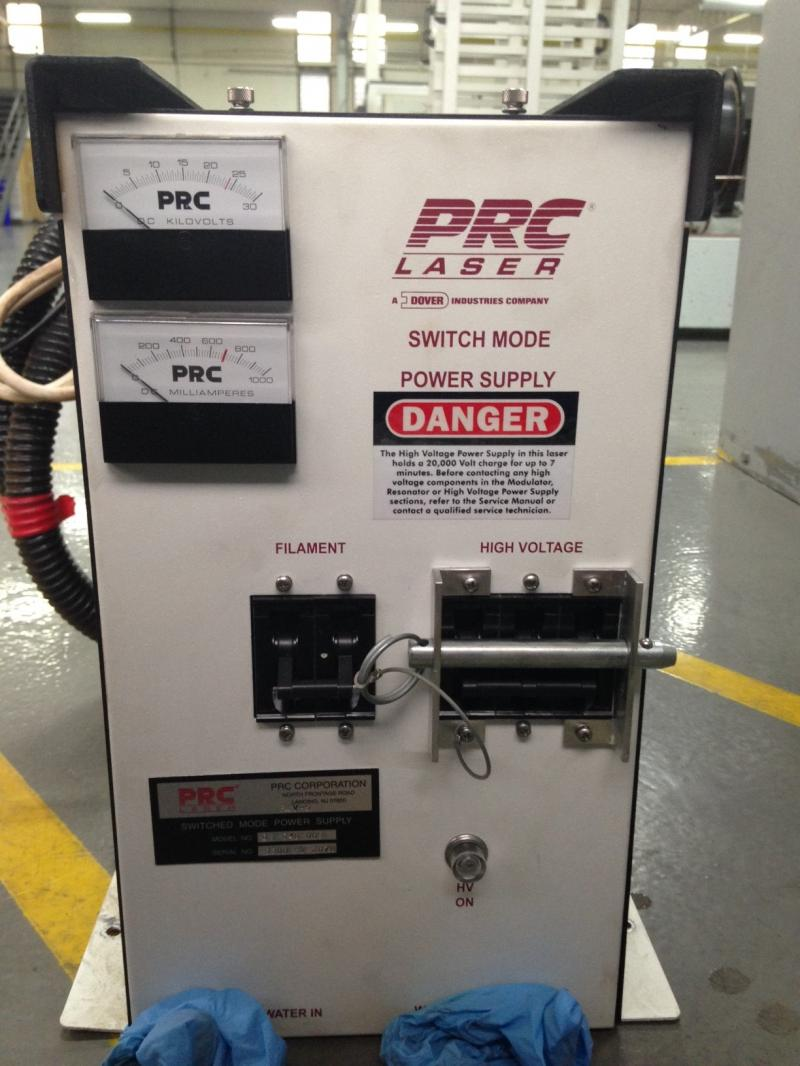 PRC Laser 20000 volt laser power supply needs repair