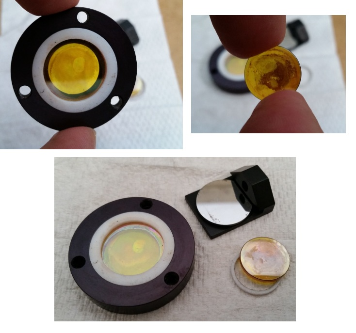 CO2 Laser Focus Lens ZnSe with Anti-Reflection Coating Peeling
